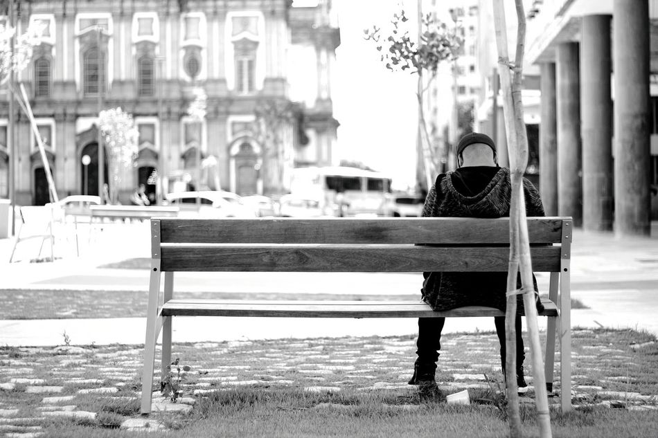 (f/1.8, 1/250, ISO 100)Outdoors Alone Square Candelária Church Blackandwhite Photography Urban Exploration Outdoor Photography Bestpic Rio De Janeiro Travelphotography Blackandwhite Travel Urban Best Picture  Day Thinking About Life Embrace Urban Life Black And White Simplicity Is Beauty. Different View Squarepic One Man Only Black And White Photography Popular Best EyeEm Shot