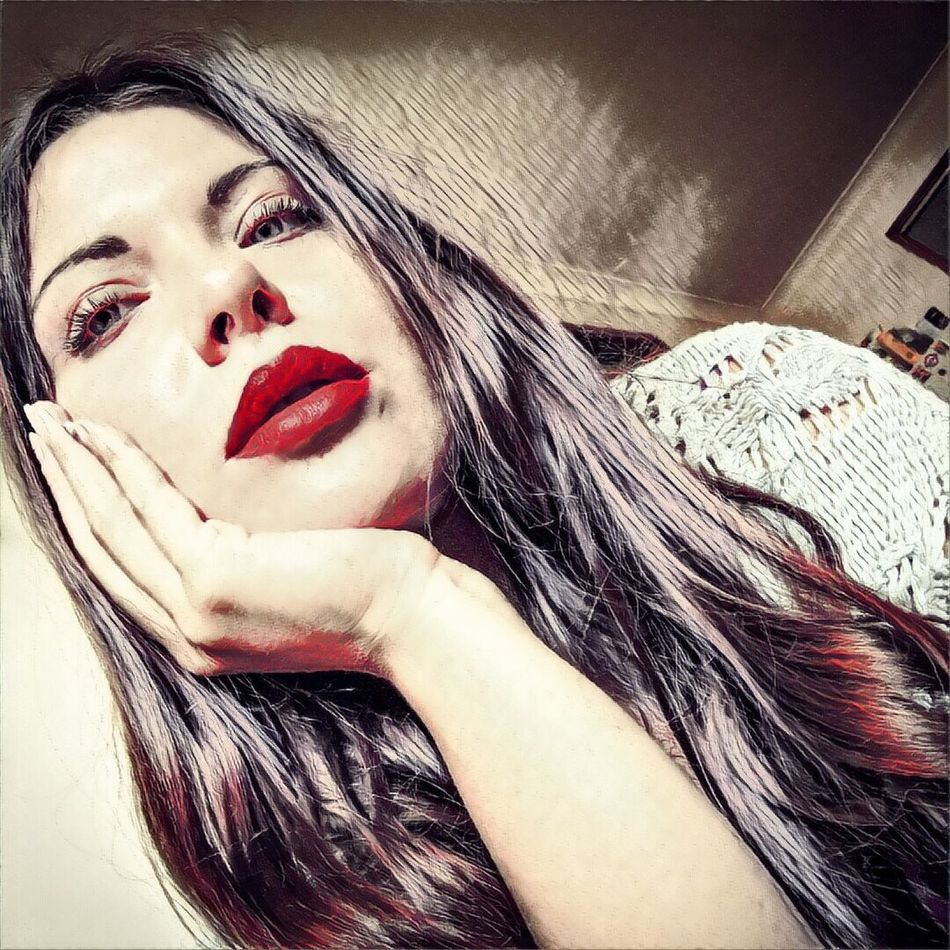 Graphic art sketches of myself while bored. (: . First Eyeem Photo Graphic Art Lips Matte Lipstick Memyself&ı Gothic
