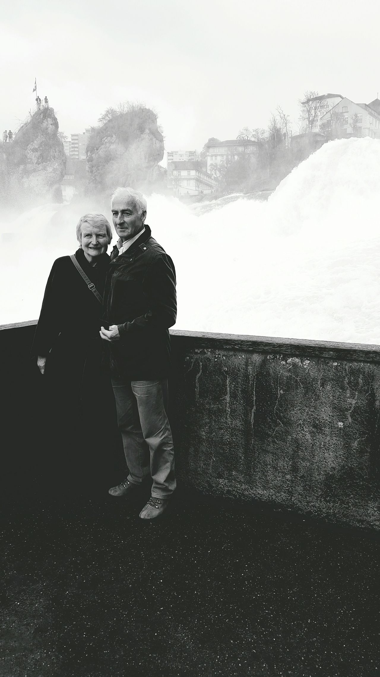 Rheinfall Couple Posing Relationship Seniors Schweizerin Peoplewatching