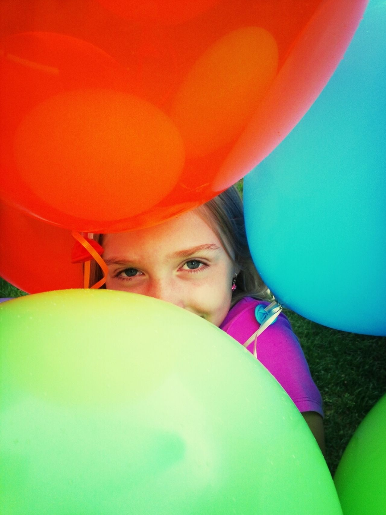 Beautiful stock photos of smile, Balloon, Childhood, Close-Up, Colorful