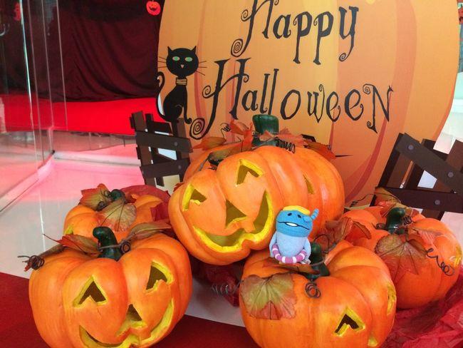 Happyhalloween Halloween Nameko with Jackolantern