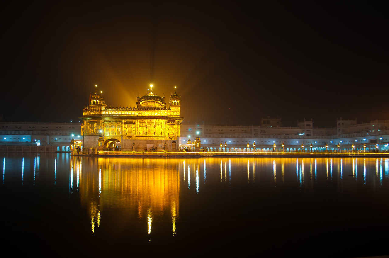 Golden Temple, Amritsar Amritsar Amritsar Punjab Architecture Built Structure Gold Gold Colored Golden Temple Illuminated India Night Night View Nikon No People Outdoors Reflection Travel Destinations Water First Eyeem Photo The Architect - 2017 EyeEm Awards The Architect - 2017 EyeEm Awards