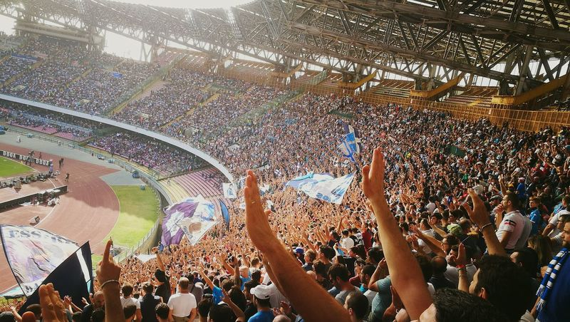 Large Group Of People Togetherness Performance Lifestyles Watching Celebration Fun Person Spectator Men Event Calcio Ultras Ultrasnapoli Mycasa Sanpaolostadium South Italy 😎💙 Crowd Large Group Of People Enjoyment Arts Culture And Entertainment Performance Music Person Fun