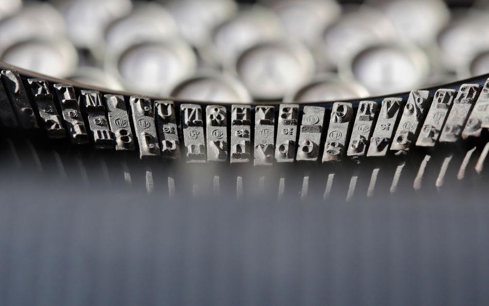 Antique Characters Close-up Keys Typewriter Typography Writing Writing Machine