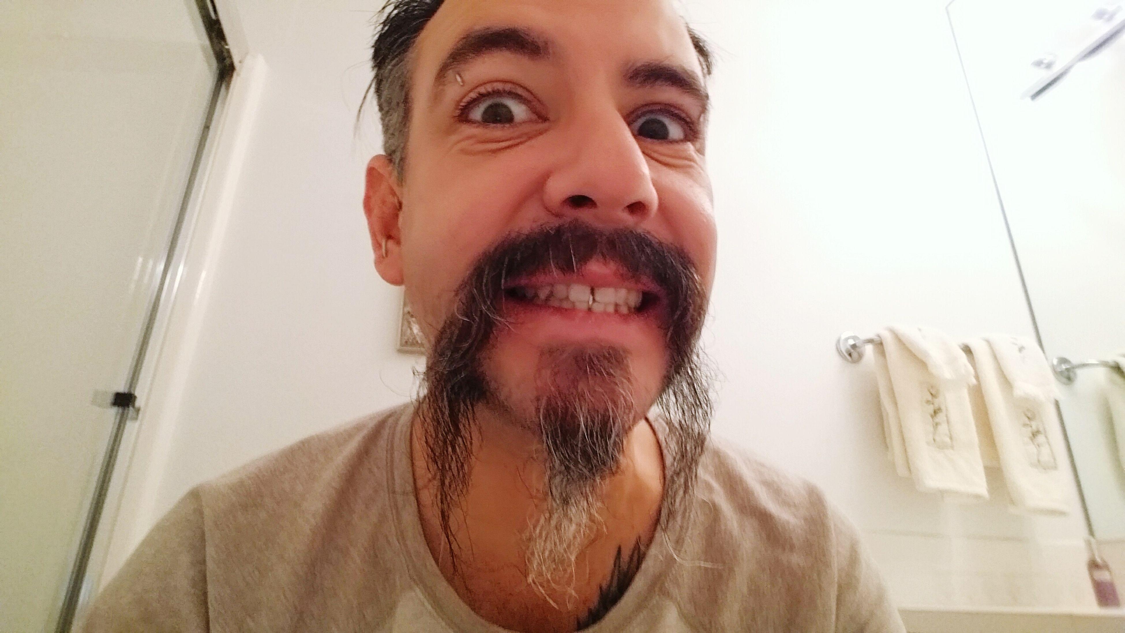 My Mo For Movember Fu Manchu Nu Manchu Mustache Power Mustache The Vandals Bathroom Selfie