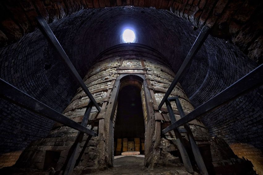 Arch Architecture Built Structure Day Illuminated Indoors  Low Angle View Middleport Pottery No People