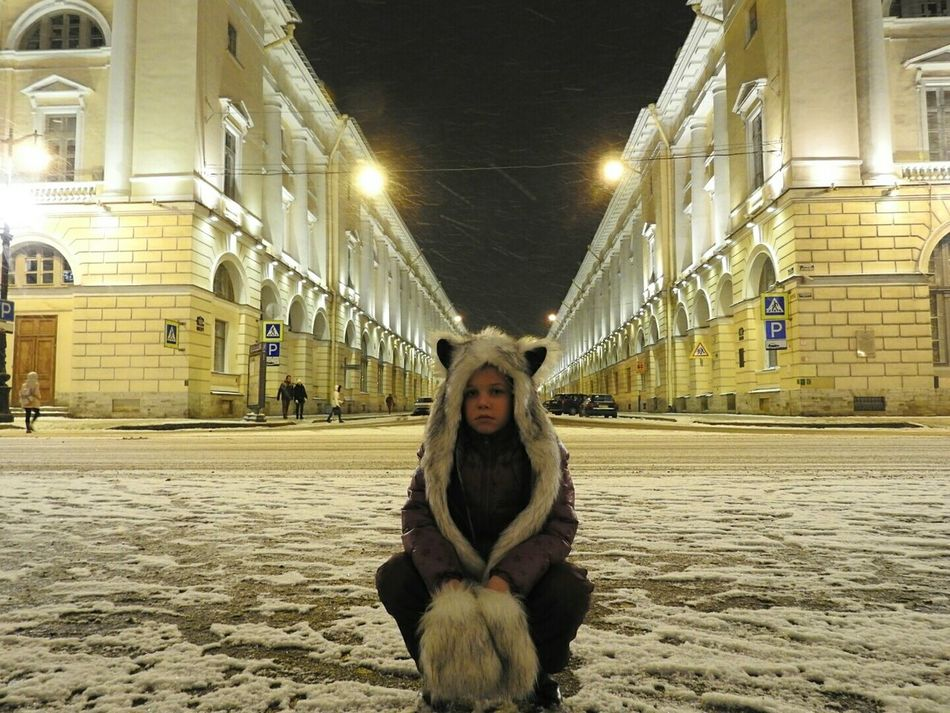 Woolfy Looking At Camera Architecture Rossi Winter Cold Temperature Snow ❄ Building Exterior Built Structure Portrait Winter Colors Of Sankt-Peterburg Sankt-Petersburg Russia