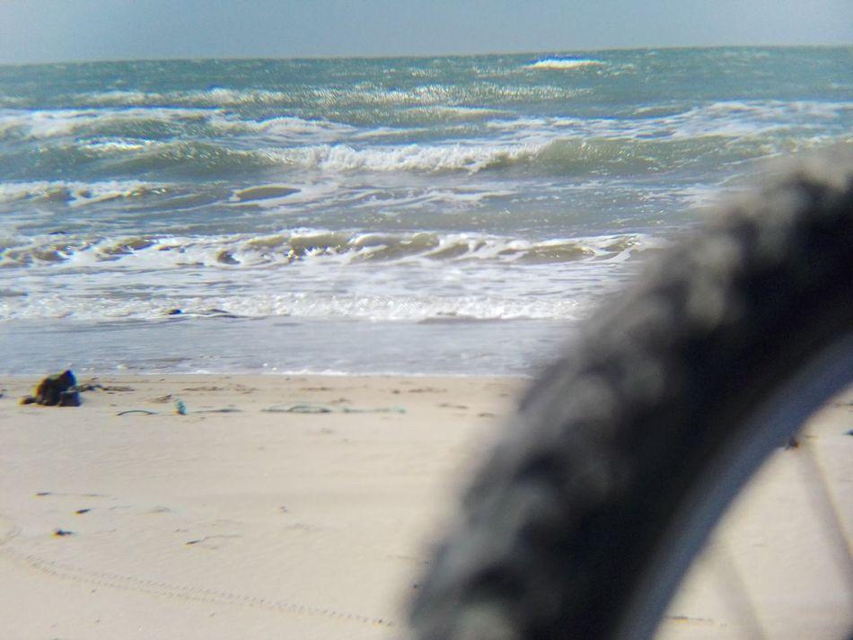 Beach Sea Bicycle Bicicletta Mode Of Transport Negativo