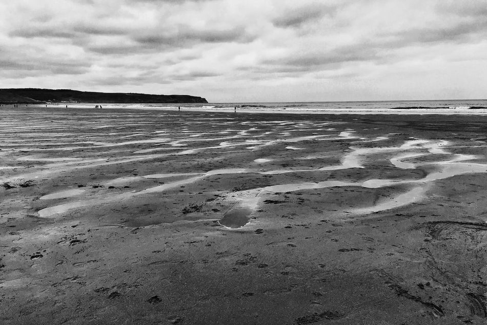 Sea Sky Beach Water Nature Shore Sand Cloud - Sky Horizon Over Water Outdoors IPhoneography Eye4photography  AMPt - My Perspective Shootermag AMPt_community AMPt - Shoot Or Die Iphoneonly Blackandwhite Eye4black&white  Monochrome Black & White