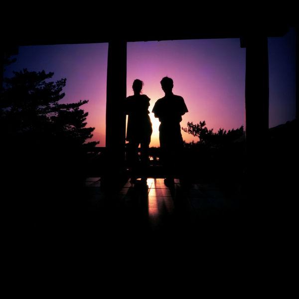 Northkorean Sunsets Analogue Photography ASIA DPRK Hotel Kaesong Korea Lomography Men Nature Northkorea Outdoors Silhouette Slidefilm Summer Sunset Temple Tourism Trip Van
