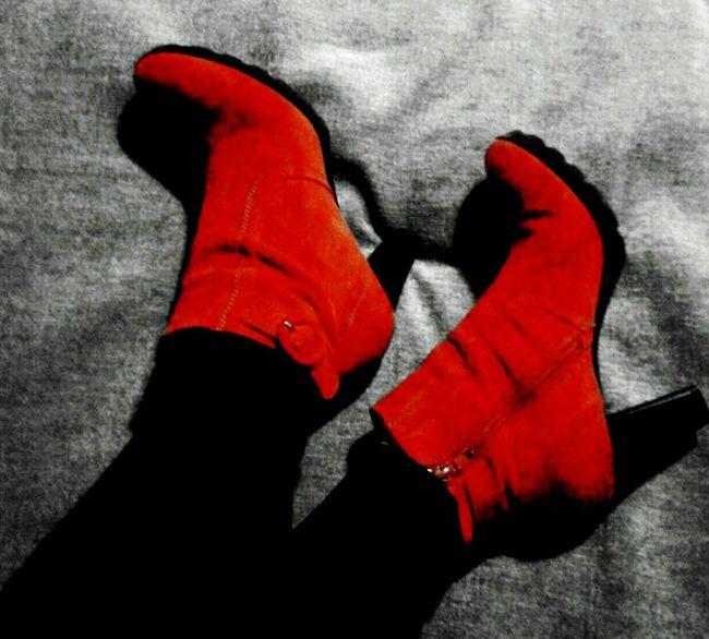Hot Red Striking Fashion Enjoying Life
