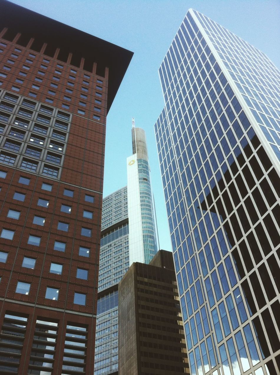 Frankfurt Skyscrapers Lookingup Bankenviertel Architecture EyeEm Best Shots EyeEm Best Shots - Architecture