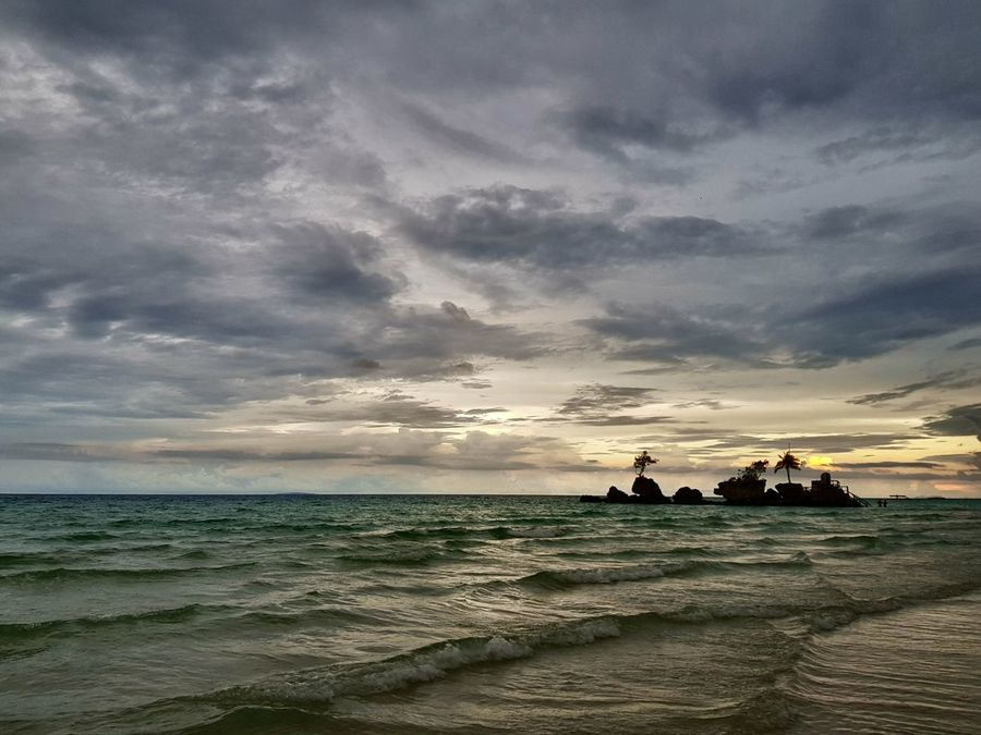 Boracay, Philippines Samsungphotography Samsungs8 Samsungphoto Beauty In Nature Horizon Over Water Outdoors Cloud - Sky Scenics Travel Destinations Vacations Travel Sky Nature Tropical Climate Water Sand Sea Beach Sunset