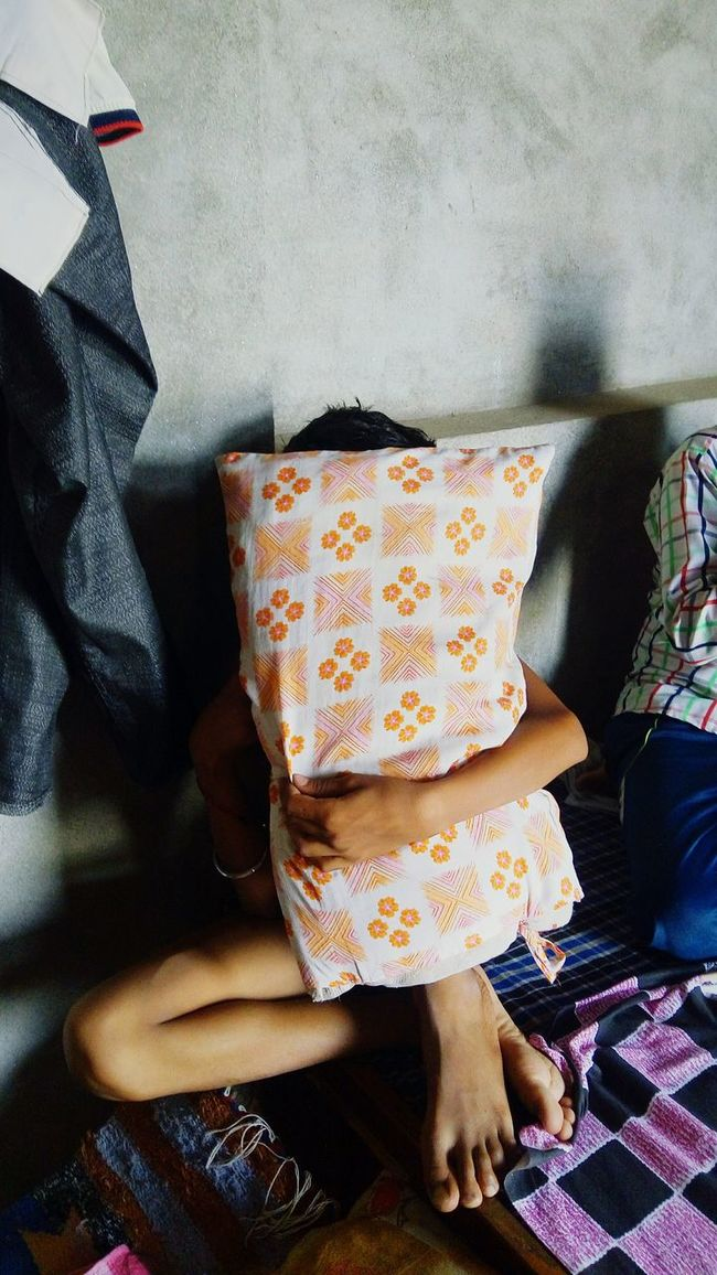 Aman Bhanwala: Hiding from camera Shy Indian Boy Hiding From Camera Pillow Jind Haryana Younger Brother Ak