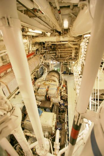 Heavy Metal Indoors  Industry Inside Ship Inside Vessel Machine Room Machinery No People Pipe - Tube Power Center Ship Turbines