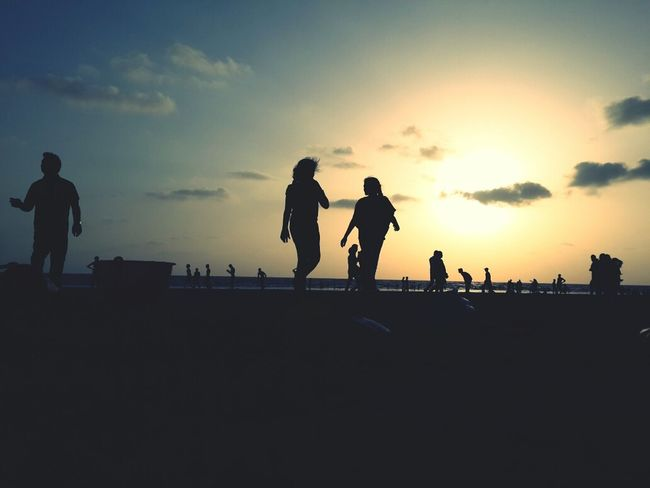Taking Photos Beach Silhouette The EyeEm Facebook Cover Challenge