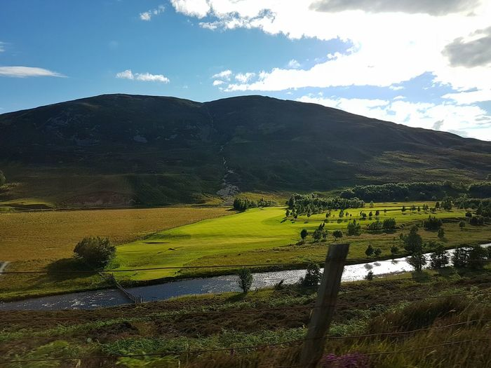 Scotland From The Road Landscape