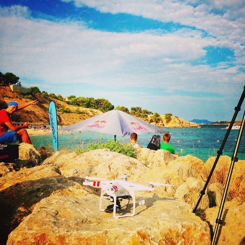 shooting location - taking some shots of the Flyboard team Mallorca Puerto Portals Drone