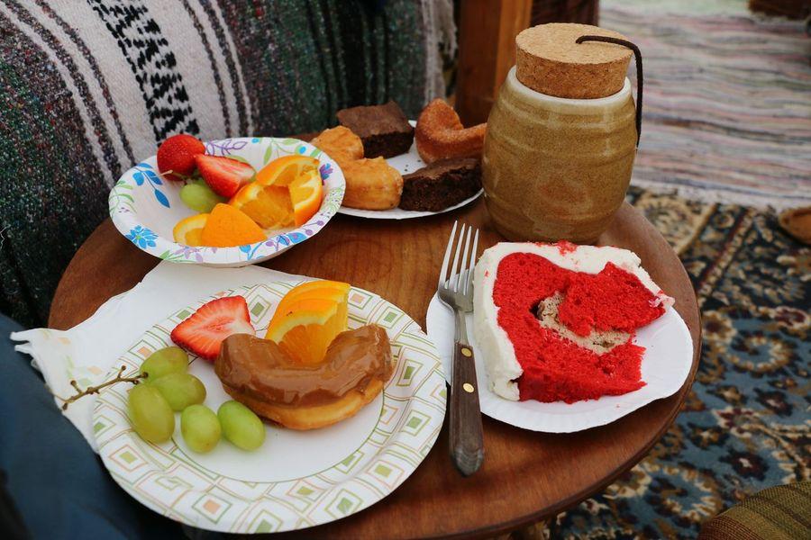 Indulgencetime Indulgence Foodphotography Cake And Fruit Red Cake Fresh Fruits