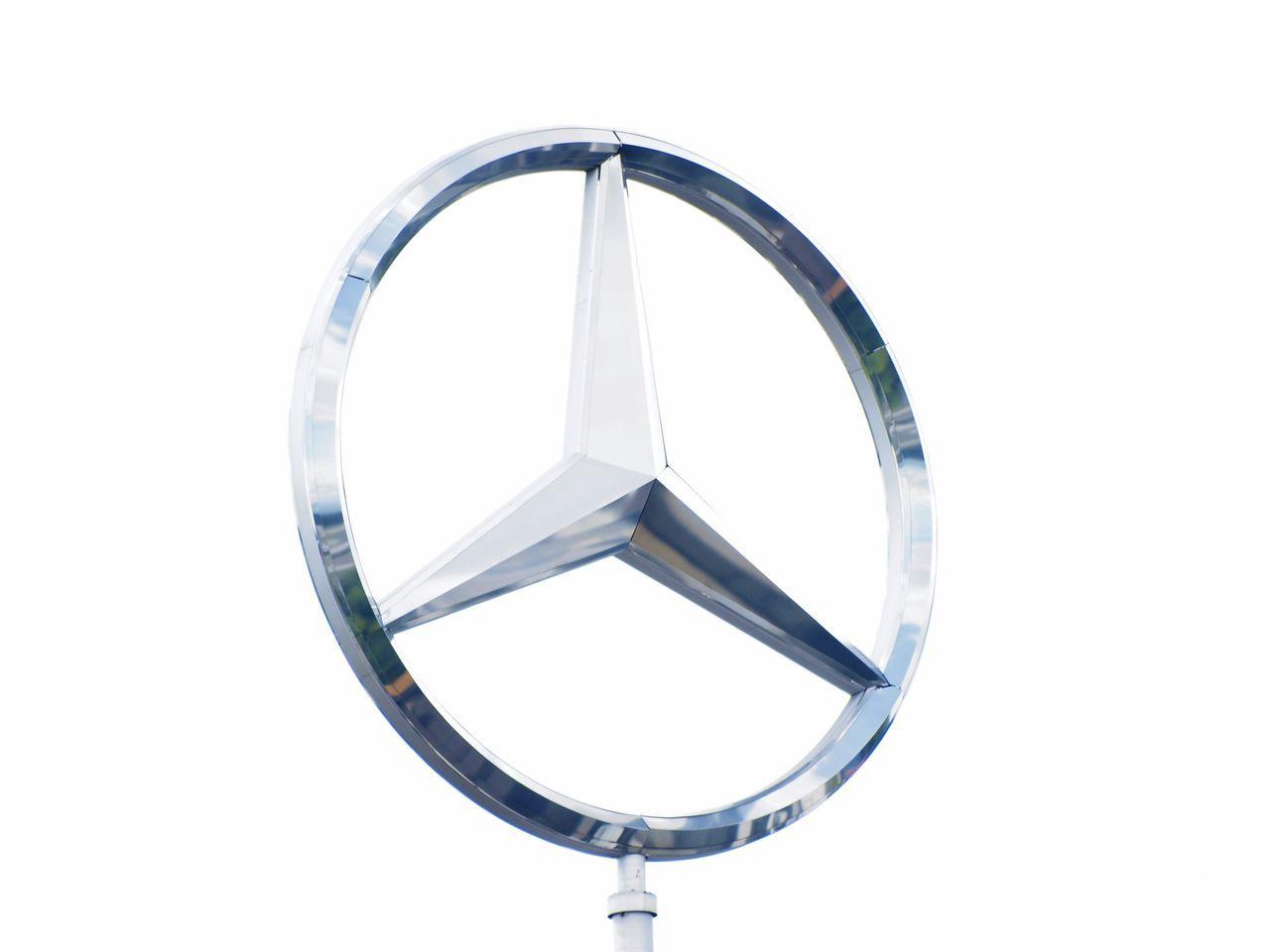 Label Sign Car Mercedes Lux Stuttgart Silver  White Star