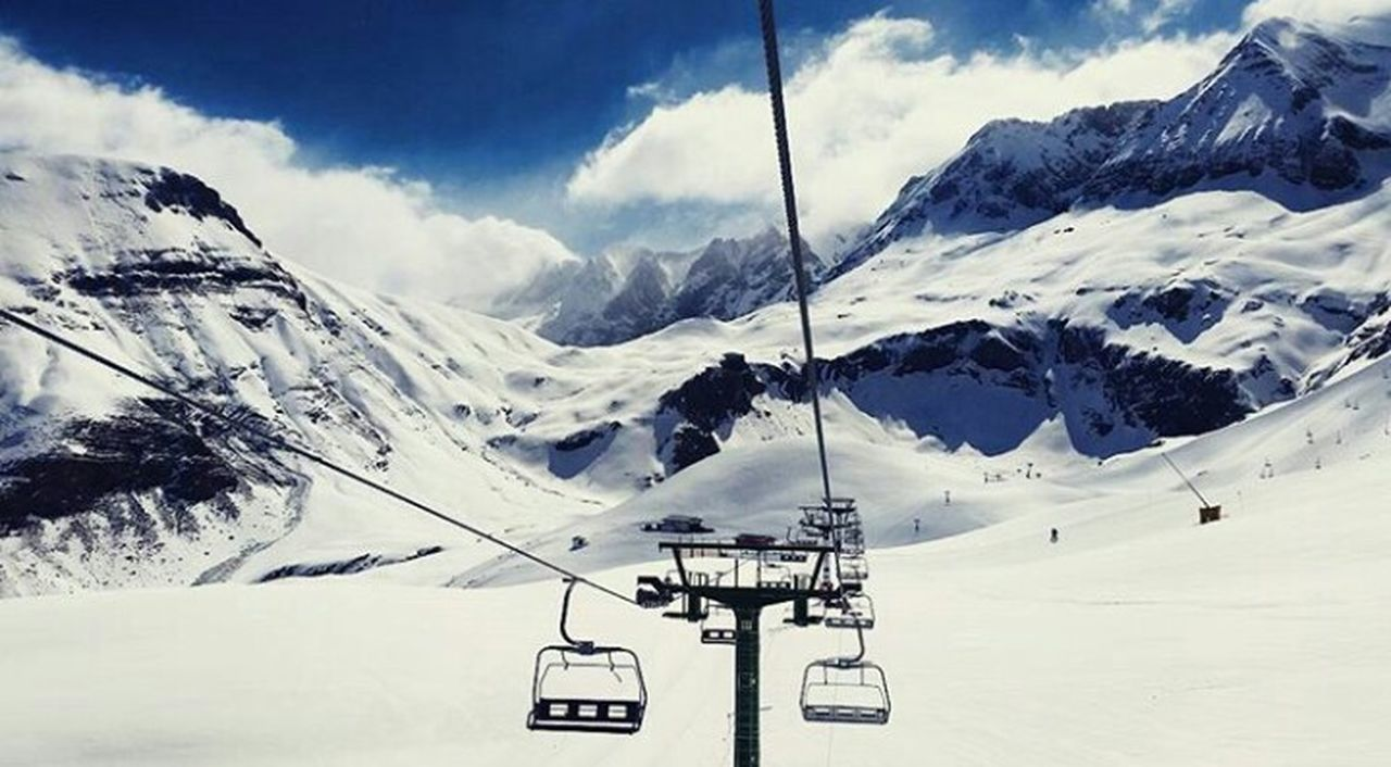 Pyrenees Pirineos Snow Cloud - Sky Winter Cold Temperature Outdoors Mountain Sky Landscape Beauty In Nature Day Ski Lift No People Nature Winter Sport Saturday First Eyeem Photo The Week Of Eyeem