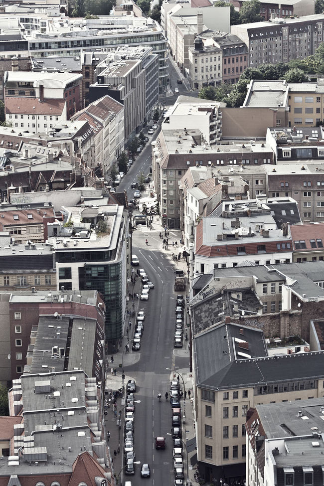 Architecture Berlin Mitte Built Structure City City Life City Street Cityscape Day Development Diminishing Perspective Elevated View From The Rooftop No People Streetsofberlin The Way Forward Travel Destinations Weinmeisterstraße