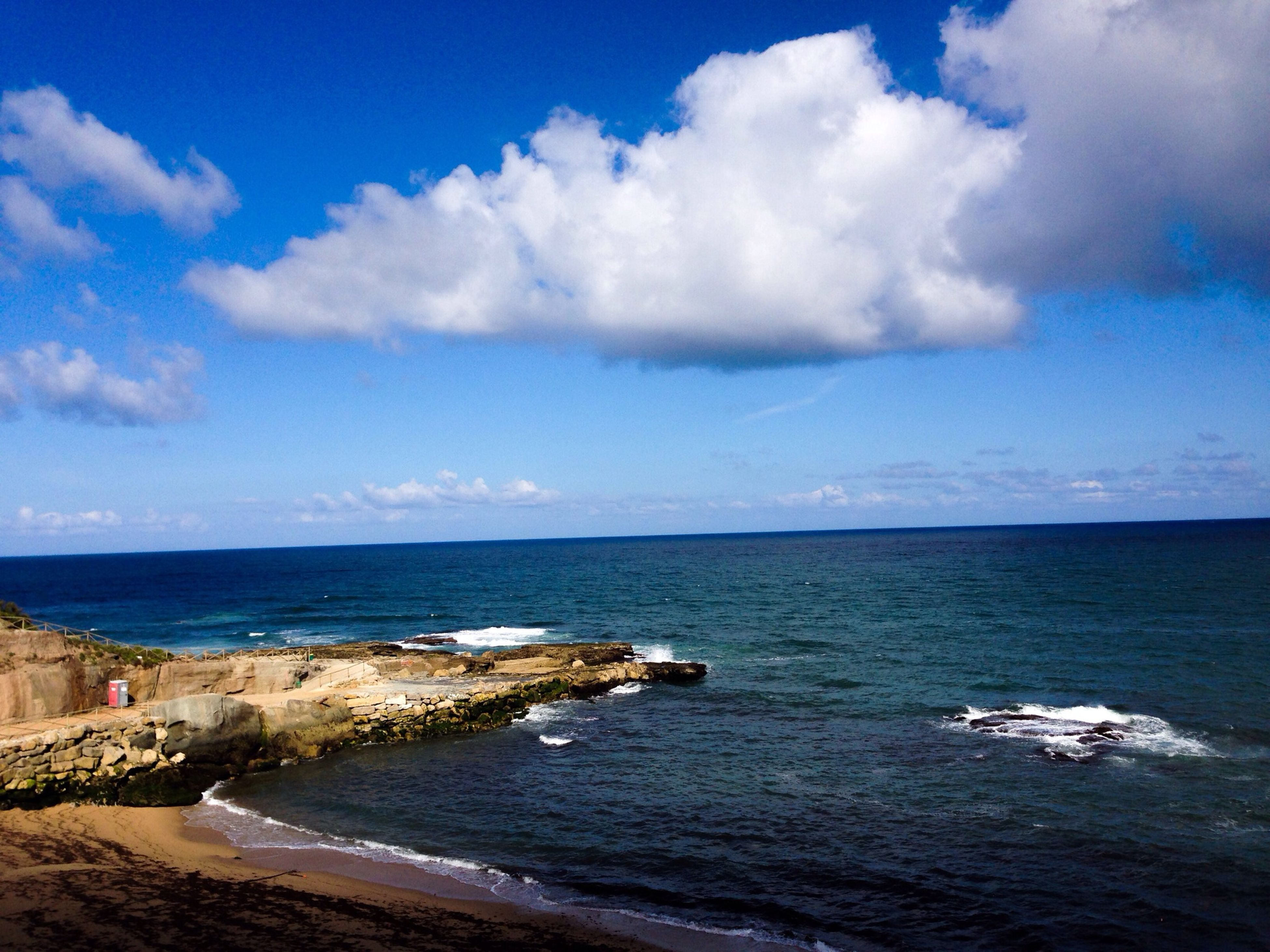 sea, horizon over water, water, sky, tranquil scene, scenics, beach, tranquility, beauty in nature, cloud - sky, shore, nature, cloud, cloudy, blue, idyllic, seascape, coastline, calm, day