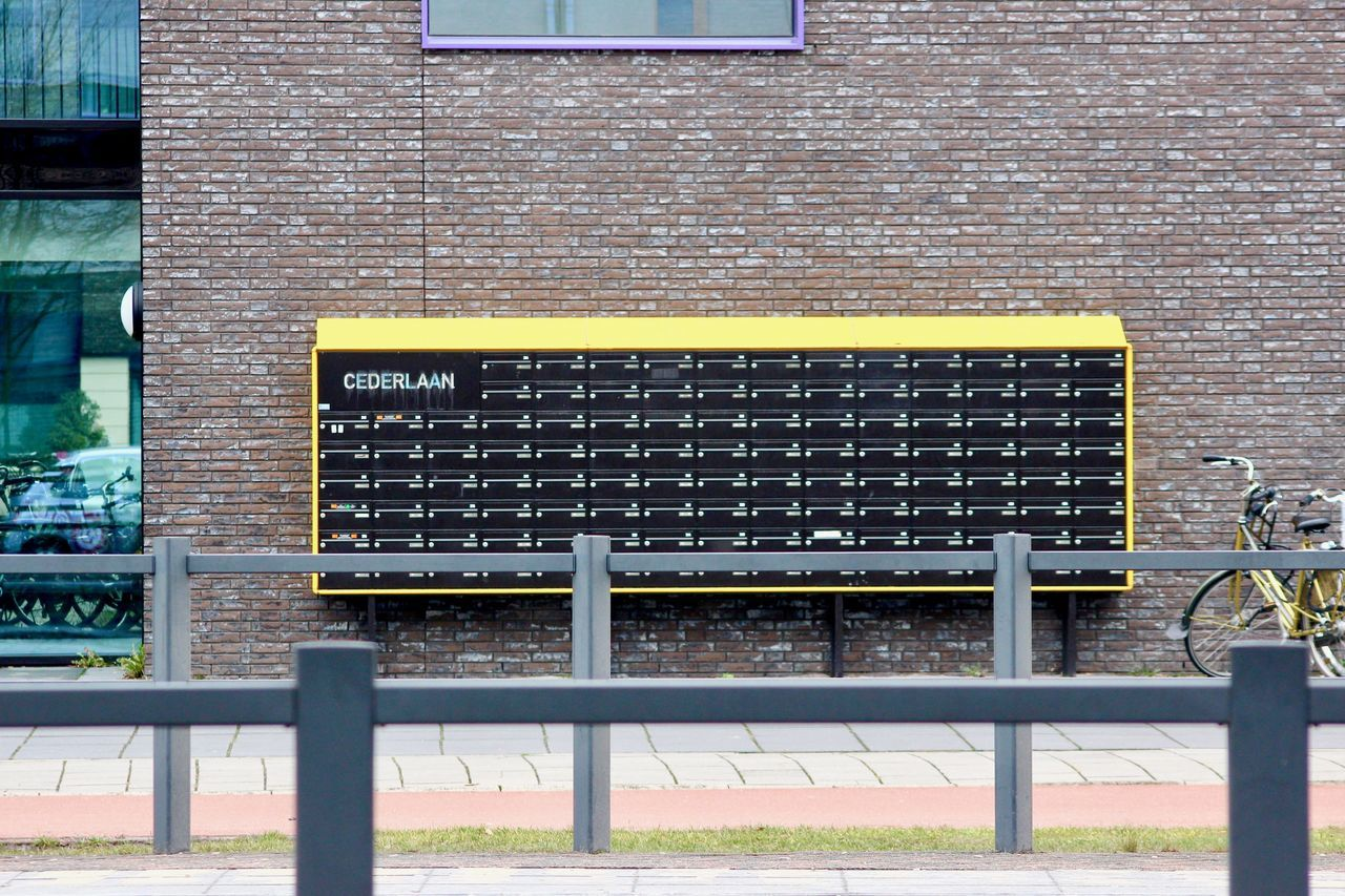 Mailbox ! Architecture Architecture_collection Building Exterior City Cityescape Colorful Design Eindhoven Explore Exploring New Ground Future Landscape Lines New No People Outdoors Photography Photooftheday Street Streetphotography Taking Photos Travel Urban Urbangeometry View