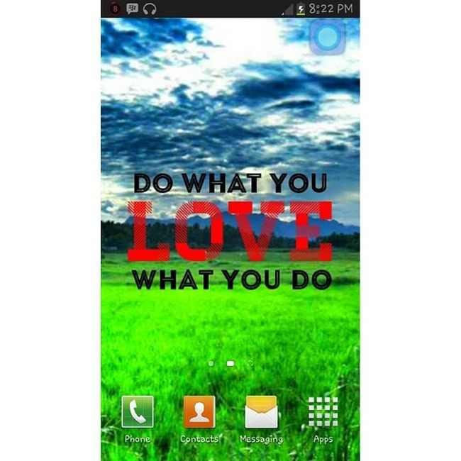 Back to basic. Basic Homescreen DowhatyouLOVEwhatyoudo