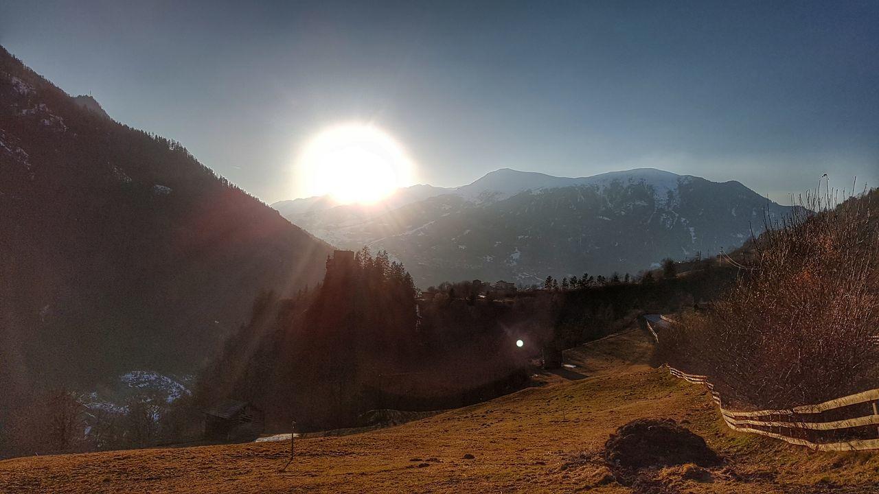 Tirol  Kaunertal Sundown Castle Mystic sundown in tirol. In the background schloss berneck Sunset Mountains Mountain View Landscapes EyeEm Nature Lover Samsungphotography