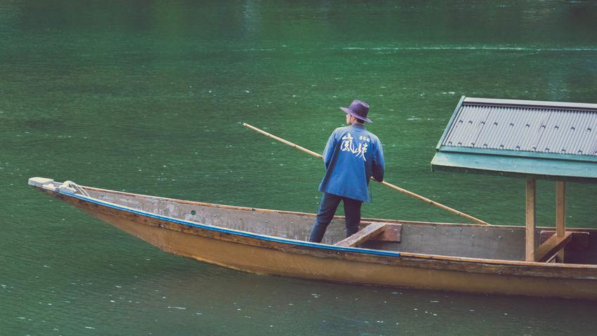 Arashiyama Beauty In Nature Day Gondola Japan Nature Nautical Vessel Outdoors Transportation Water EyeEmNewHere
