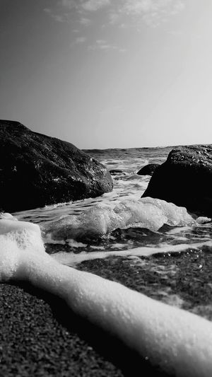 Beauty In Nature Motion No People Outdoors Lydgate Beach Kauai Life Close-up Low Angle View Beach Photogrqphy Blackandwhite Photography