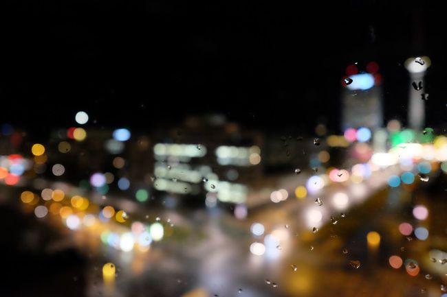 Blurred Skyline Bokeh Defocused Depth Of Field Night Night Lights RainDrop Selective Focus Traffic
