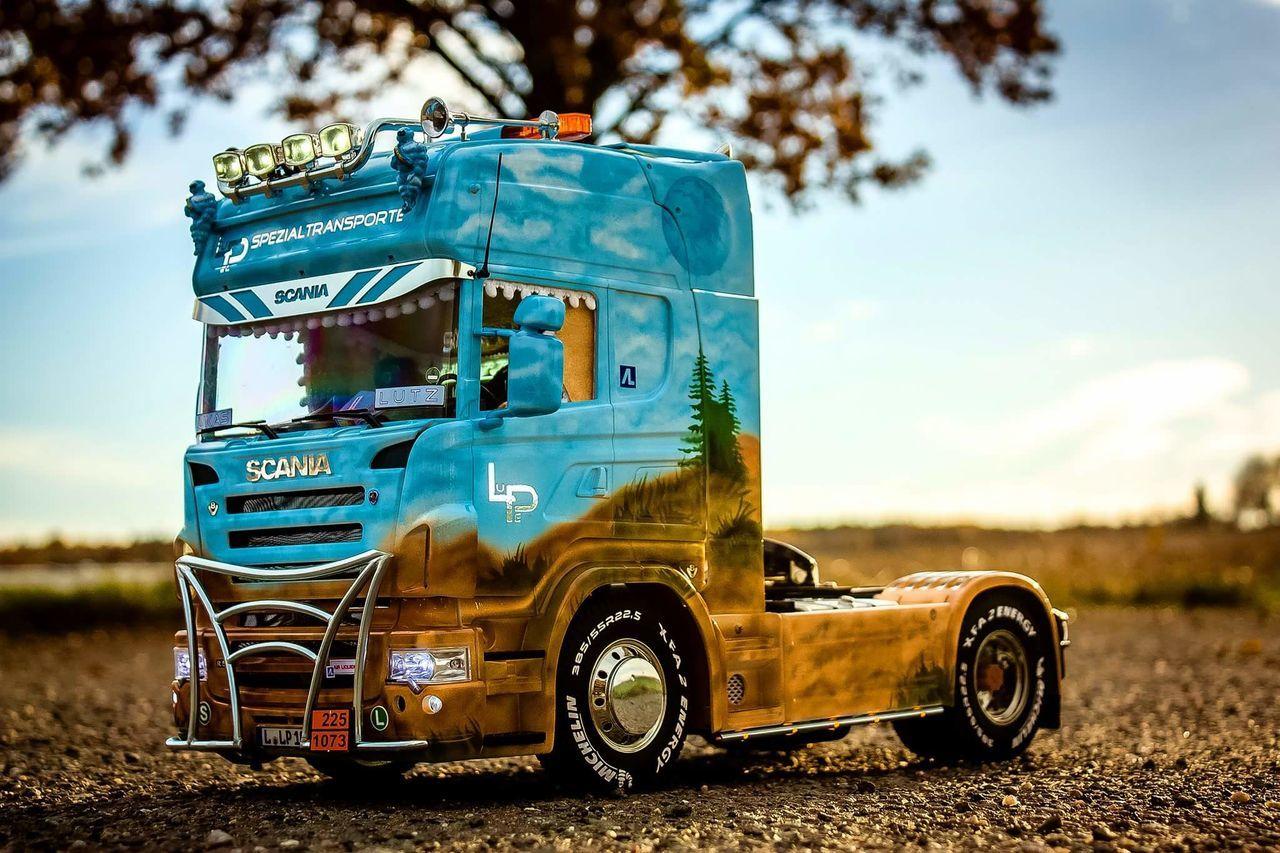 Radio Controlled Rc Model Scania R500  Airbrush SCANIA POWER Modellbau