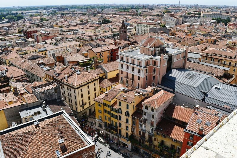 High view over Verona, Italy Architecture High Angle View Building Exterior Cityscape Built Structure Travel Destinations Italy 🇮🇹 Buildings Verona Italy High Angle View Selective Focus Plush Italy Photos No People Old Ruin Manmadestructures Oldcity Mobility In Mega Cities