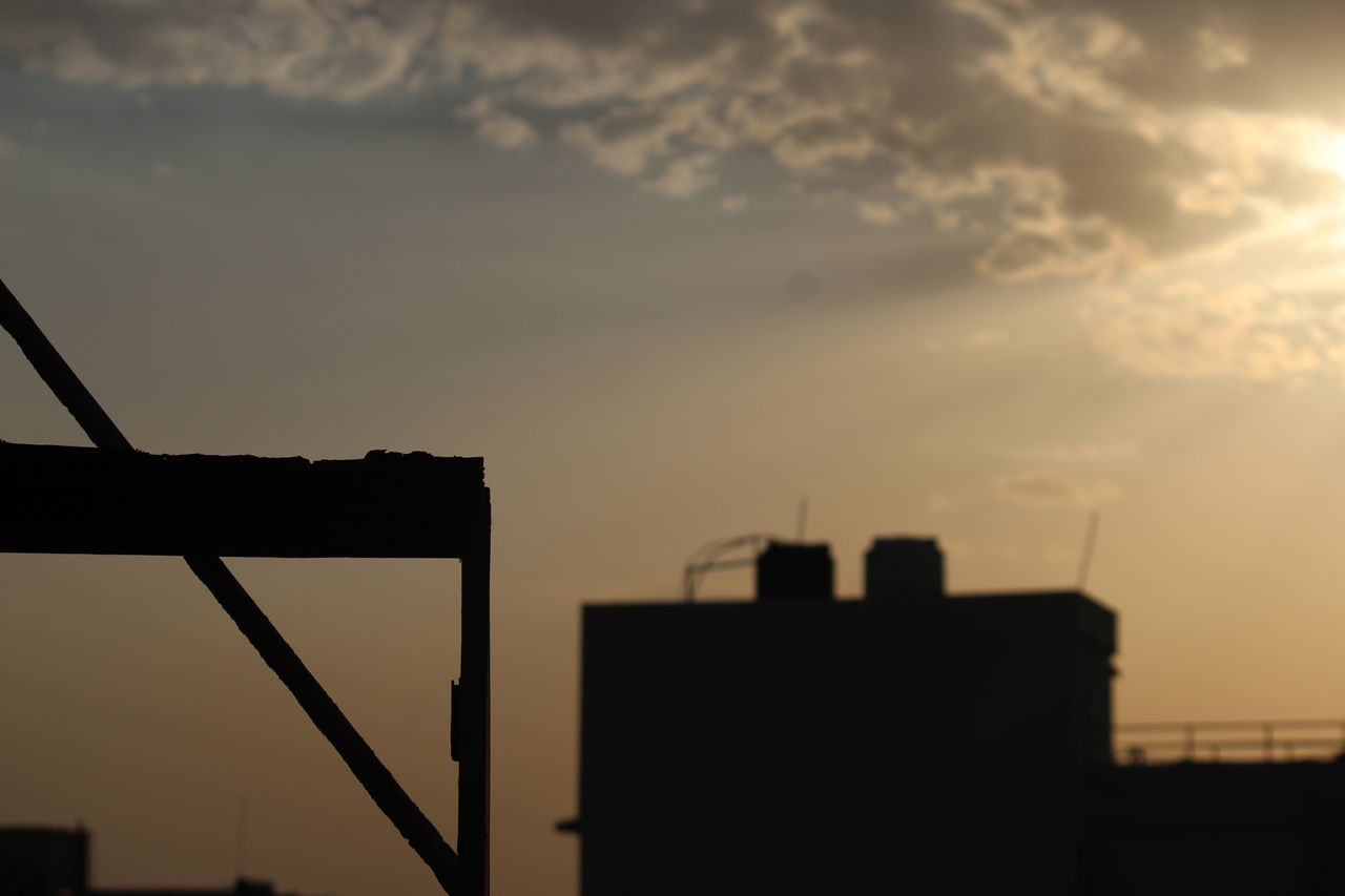 sunset, sky, architecture, built structure, no people, outdoors, city, silhouette, building exterior, cityscape, nature, day, close-up