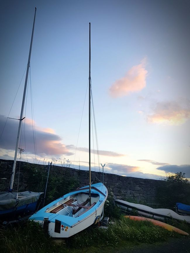 Nautical Vessel No People Sea Sky Moored Water Transportation Blue Tranquility Cloud - Sky Outdoors Beach Harbor Day Sunset Landscape Nature Sailing Ship S7 Edge Photography S7Edgecamera Check This Out Mast Tranquility Taking Photos Beachlife