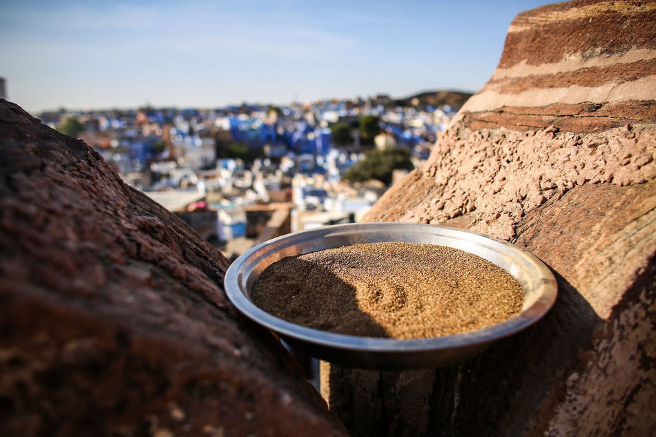 Architecture Blue City Building Exterior Built Structure Close-up Day Focus On Foreground Food India Mehrangarh Nature No People Outdoors Sky Spices Travel Destinations Traveling