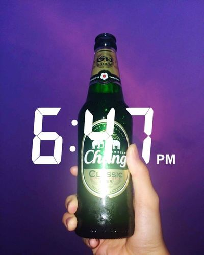 Photography Holding EyeEm Selects Beer Beer Time Drink Sky Night Nightphotography Wind Not Snapchat