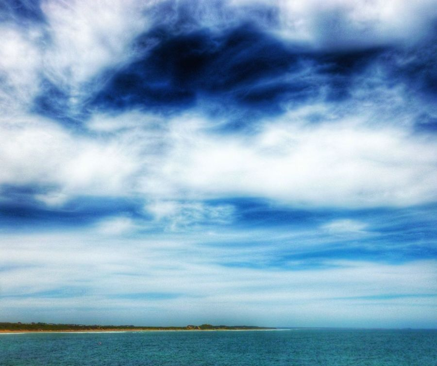 Blue Wave in Australia Torquay Surf Coast Blue Sea Clouds And Blue Sky Mystical Clouds And Sky Landscape_Collection Nature_collection Landscape Scenic View EyeEm Best Shots The Week Of Eyeem Showcase April EyeEm Eye4photography  Stunning View Sky Scenes Beautiful Travel Relaxing View From Above Fluffy Clouds Blue Sky