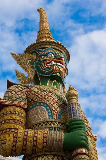 Sculpture Thai Sculpture Thai Art Statue Giant Giant Statue Giant Statue In Thailand Sculpture And Colors Sculpture In The Temple Sculpture In Thai Temple ใน Thailand