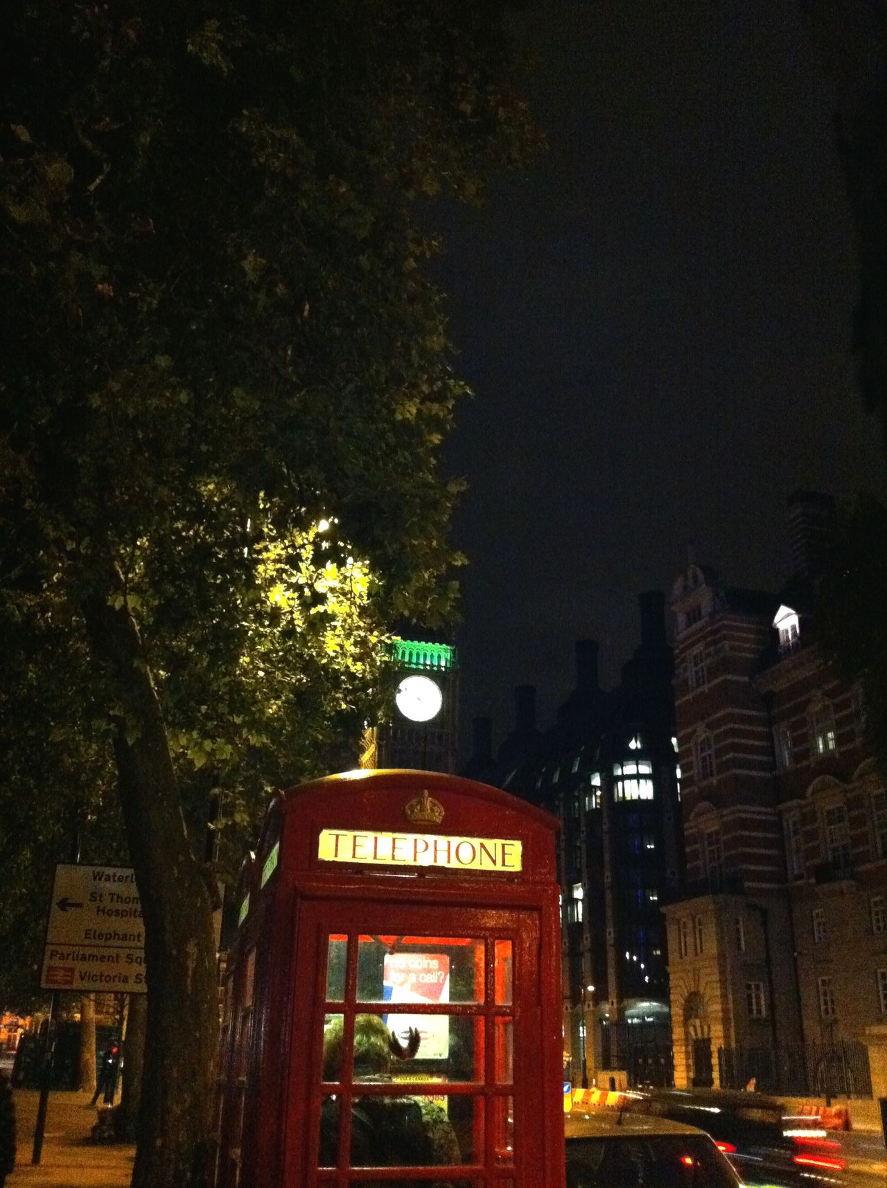 Night London London Streets Phone Booth Red London Phone Booth Bigben