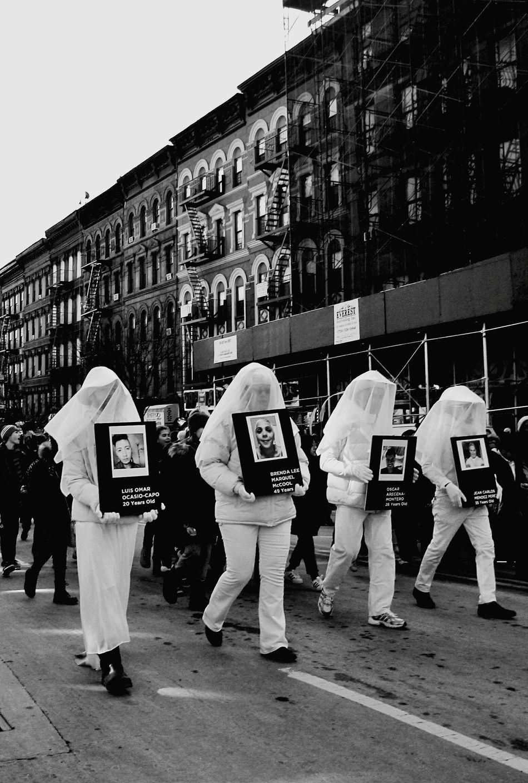 Orlando Pulse tribute at The Three Kings parade in Harlem, NY Pulse Tribute Spanish Harlem Three Kings Parade 2017 El Barrio NYC Orlando Pulse Tribute
