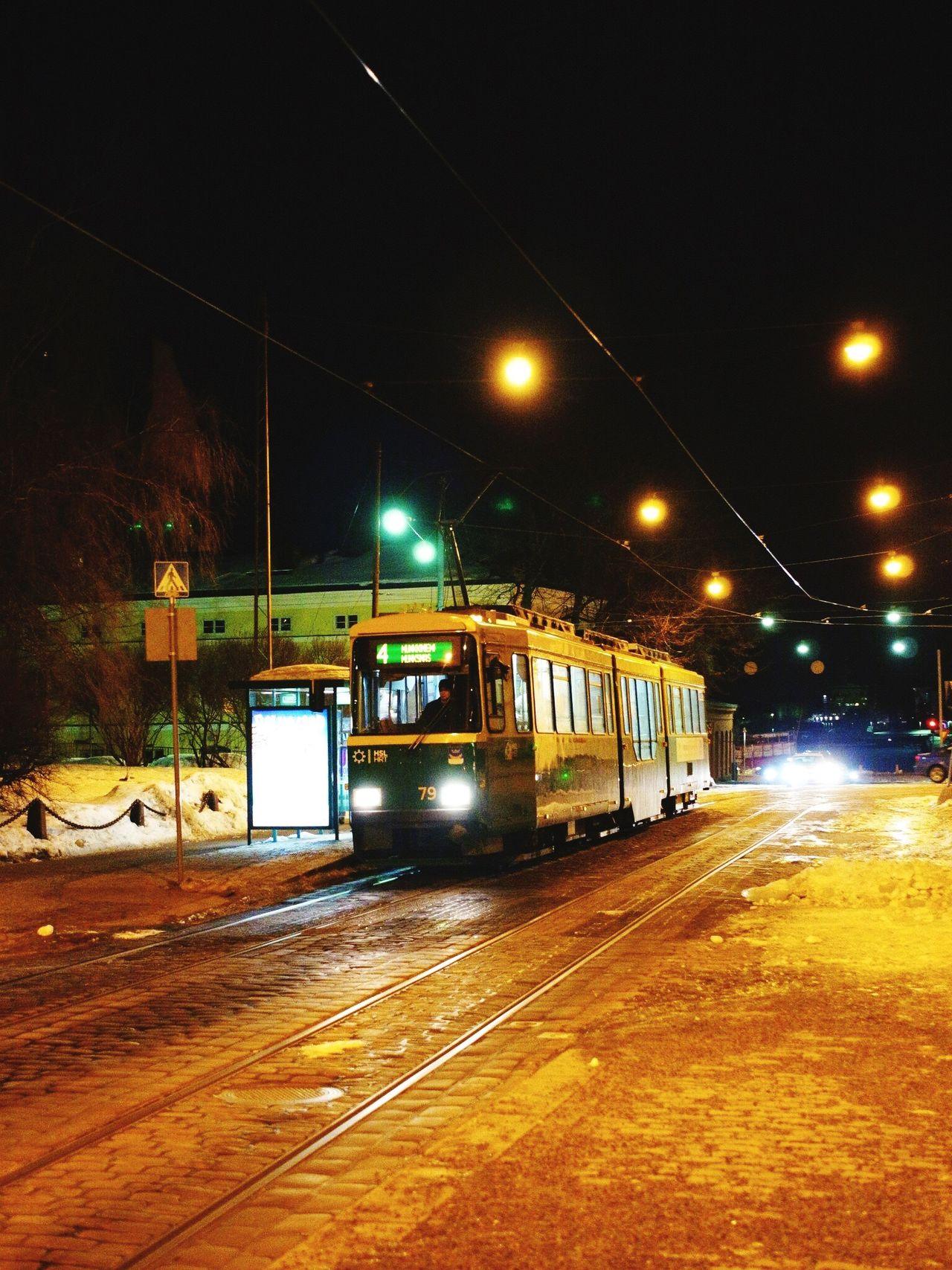 Transportation Illuminated Mode Of Transport Night Public Transportation Railroad Track Rail Transportation Tram Land Vehicle Cable Car No People Outdoors Sky