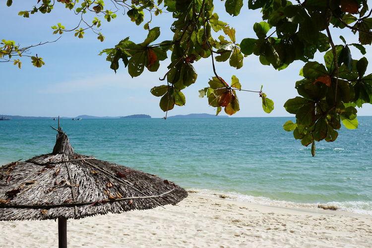 Beach Beachphotography Cambodia Coastline Horizon Over Water Landscape Nature Sea Sokha Beach Travel Destinations