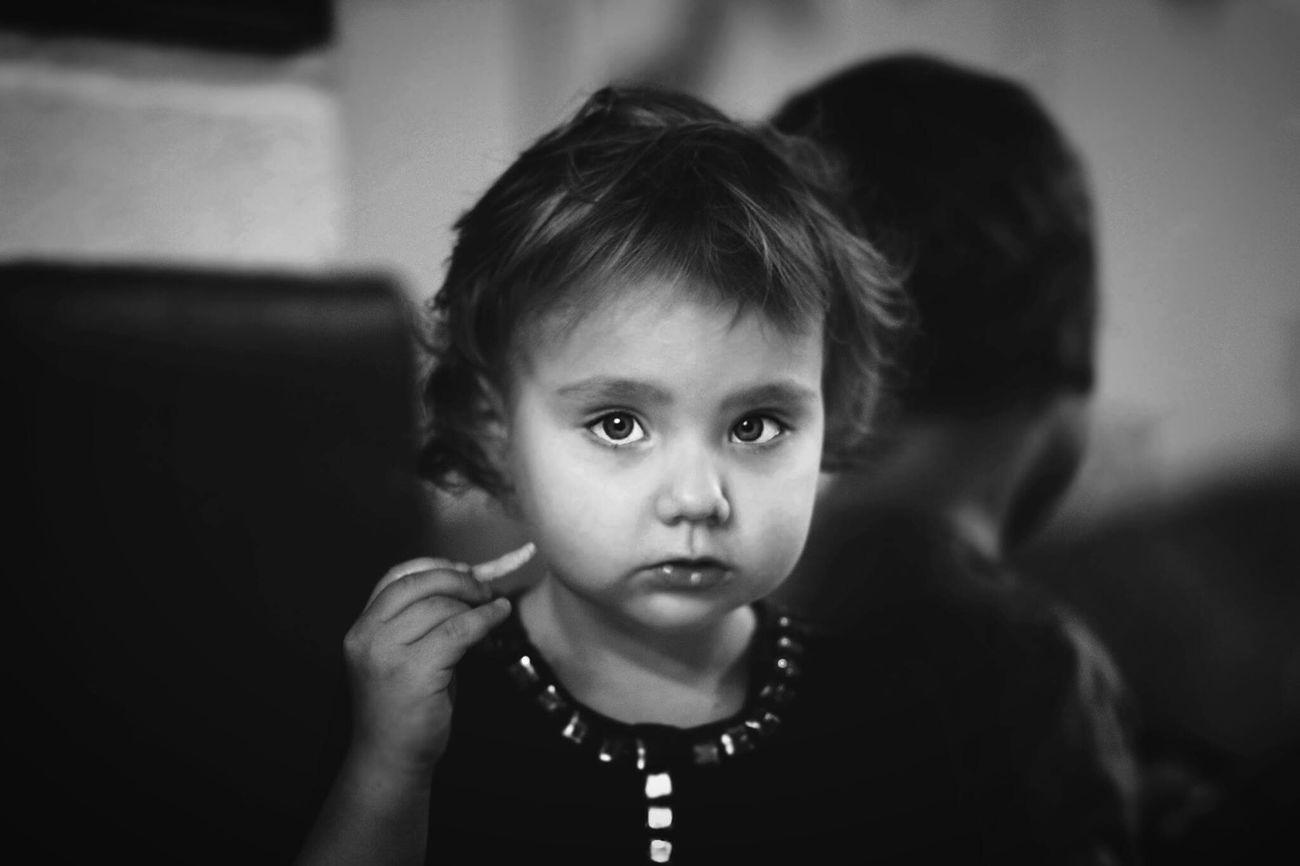 Basia Capture The Moment Black & White Canon60d EyeEm Bnw Portrait Monochrome Sweet Girl Chaildren B&w Funtimes