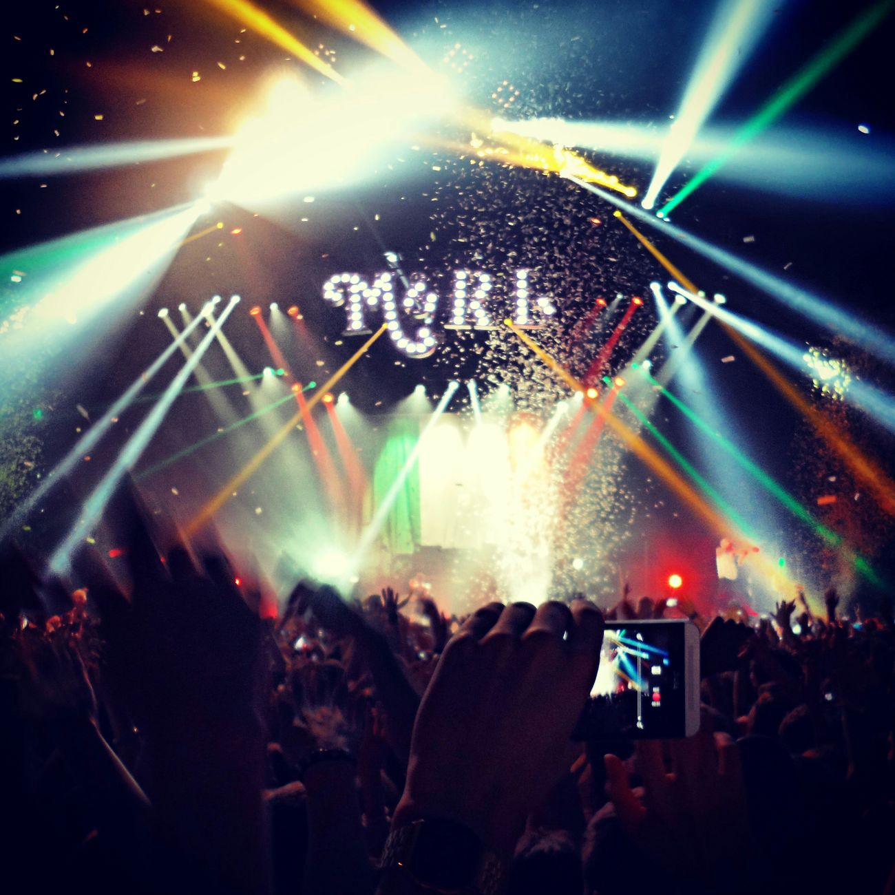 Concert Macklemore & Ryan Lewis Lights HTC_photography Zurich, Switzerland