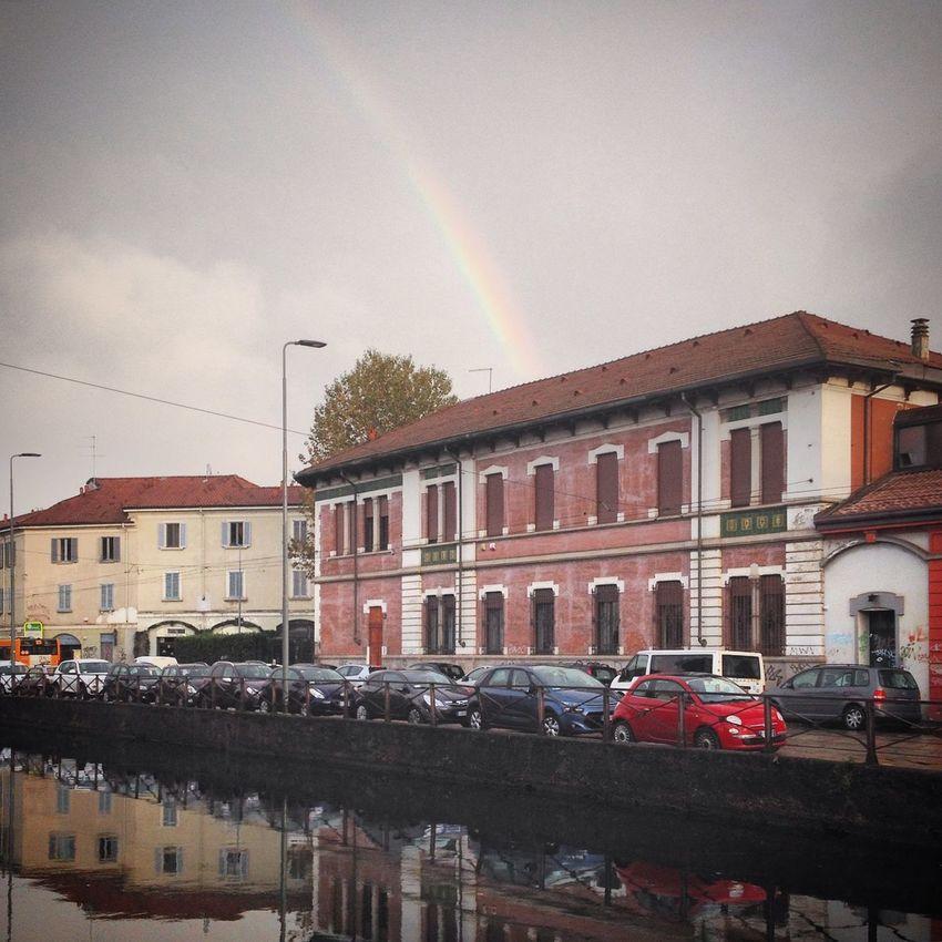 Rainbow at Naviglio Grande, Milano Aroundmilan Darsena Milano Milanobella Navigli Navigliogrande Nuova Darsena Di Milano Picsofmi Rainbow
