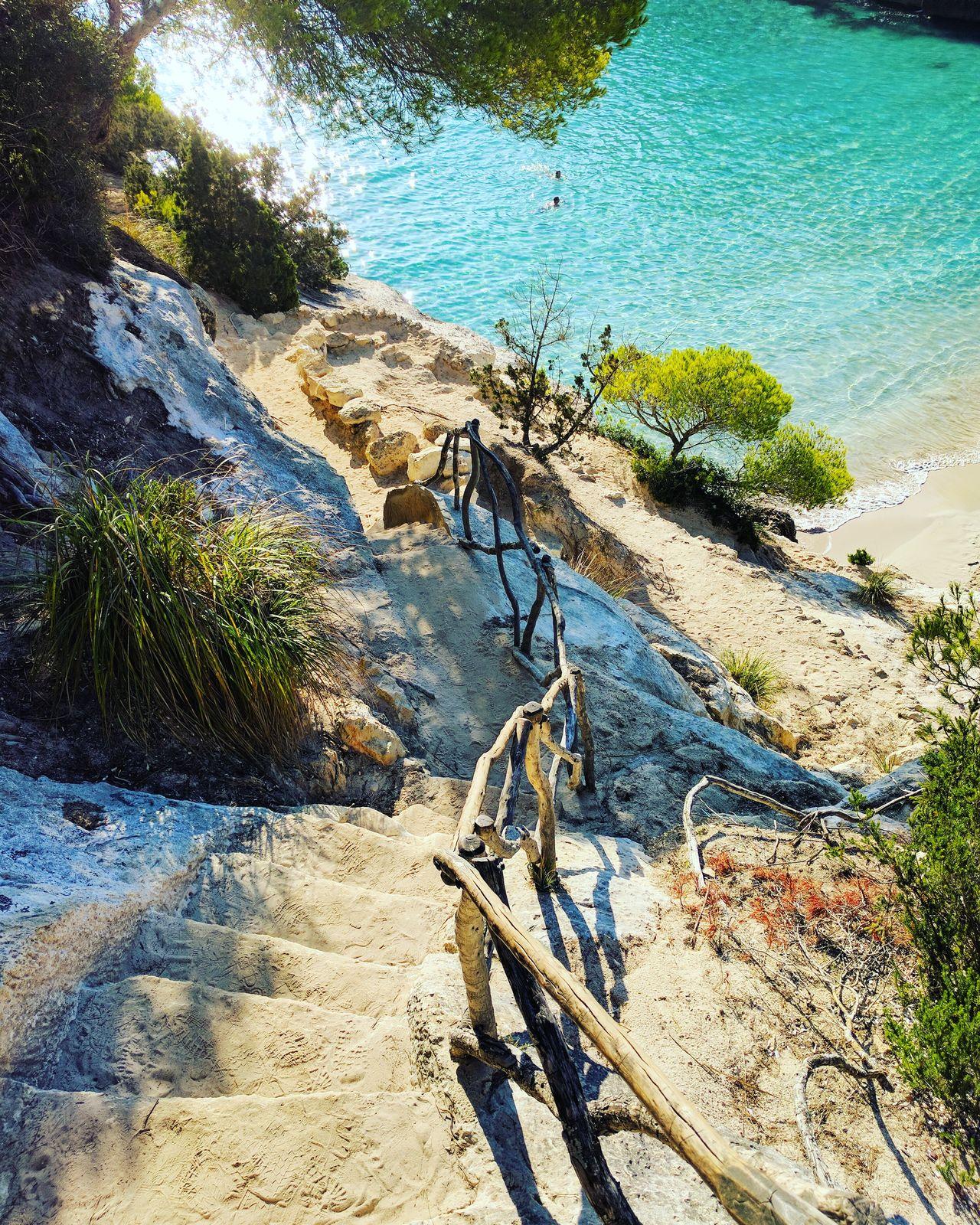 Beach In Nature Mediterranean  Blue Sea Clear Water Beach Menorca Steps To Beach