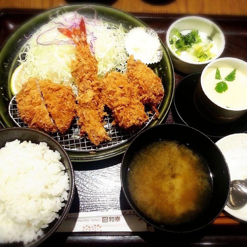 今日は紅葉セット(*^^*) Tonkatsu Oysterfry Friedshrimp Eggcustard ChickenbreastcutletMushroomcreamcutlet